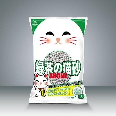 Akane's綠茶紙砂7L
