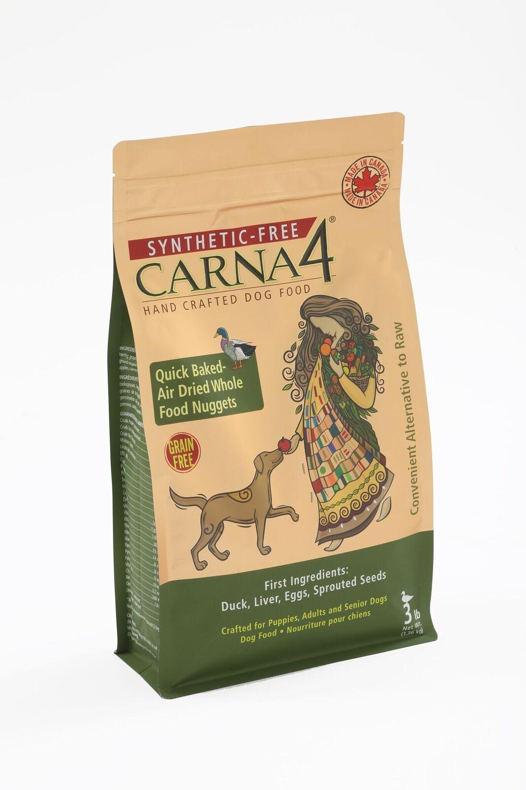 CARNA4 鴨肉無穀物全犬配方3LB/12LB/22LB