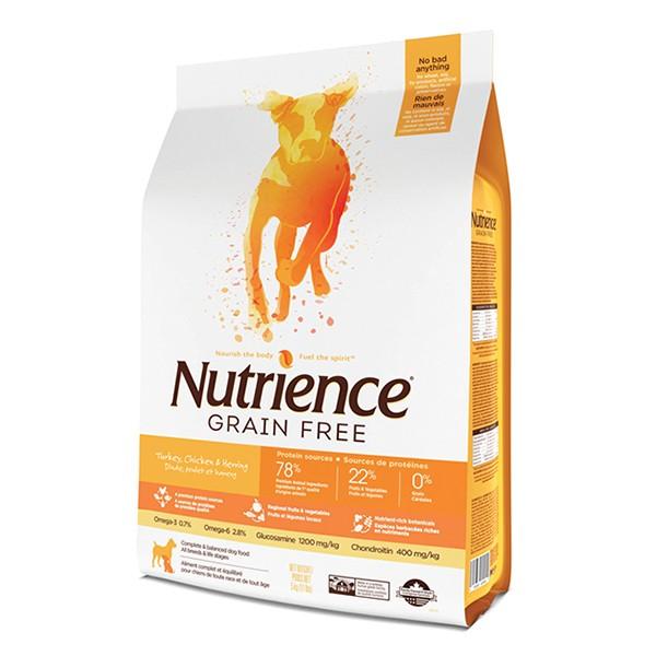 Nutrience 無穀物雞火雞三文魚配方11.55kg