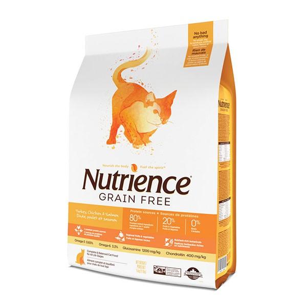 Nutrience 無穀物雞火雞三文魚全貓配方2.5kg